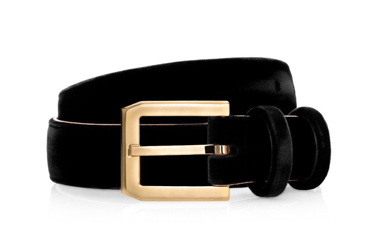 CREVEL VELOUR BLACK BELT Belts Superglamourous