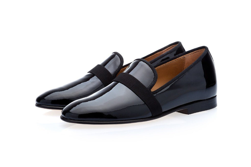 mens slippers loafers black