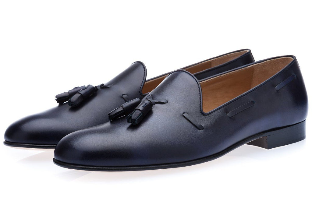ELJEBEL RADICA NAVY LOAFERS Loafers Superglamourous