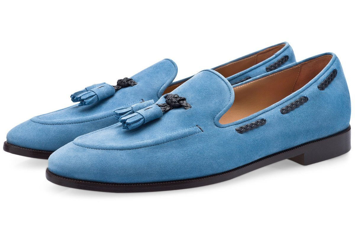 GIGAS VELUKID AZURE LOAFERS Private Sale Superglamourous