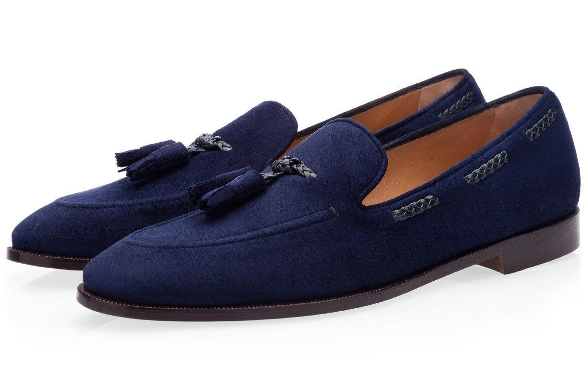 GIGAS VELUKID NAVY LOAFERS