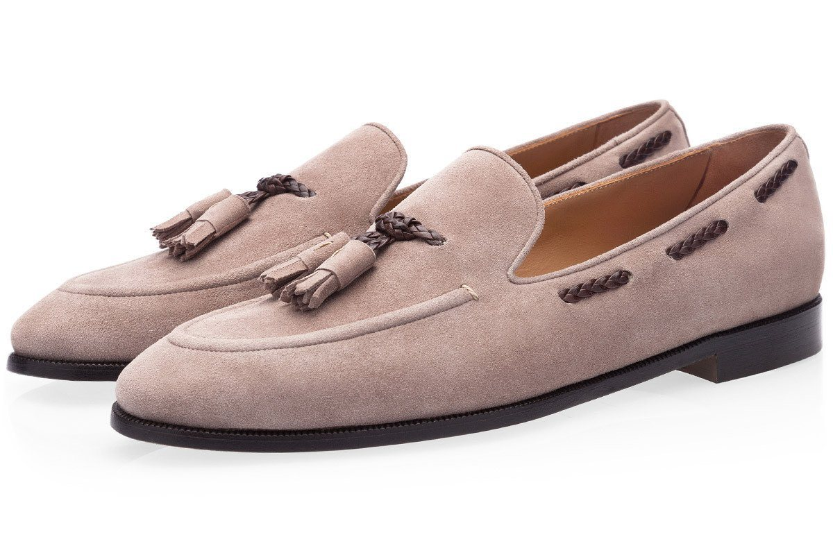 GIGAS VELUKID TAUPE LOAFERS Private Sale Superglamourous