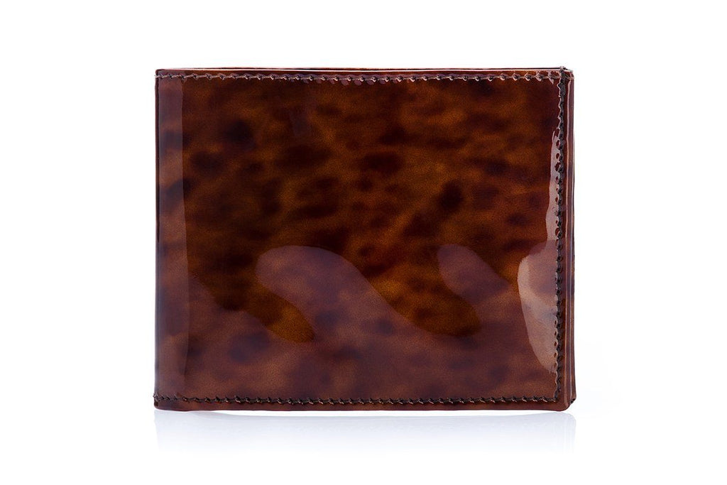 GUADALUPA PATENT TORTOISE WALLET