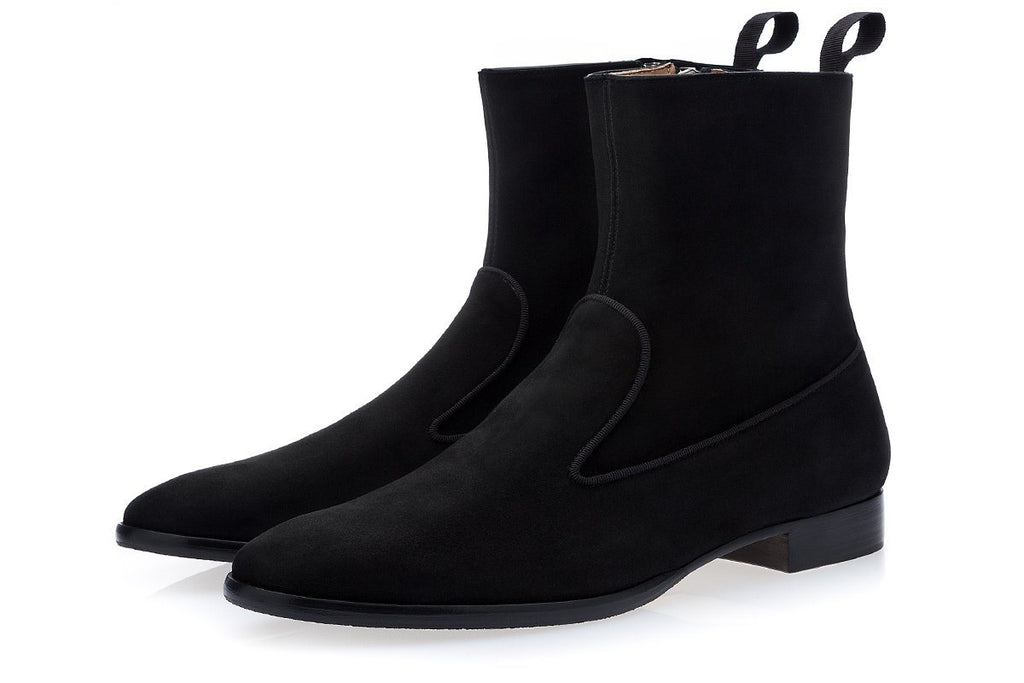 HARLEY SOFTY BLACK ANKLE BOOTS