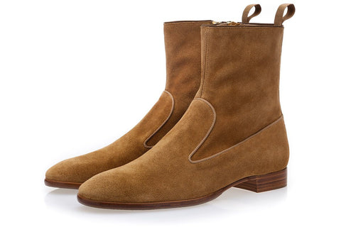 HARLEY SOFTY CARAMEL ANKLE BOOTS Boots Superglamourous