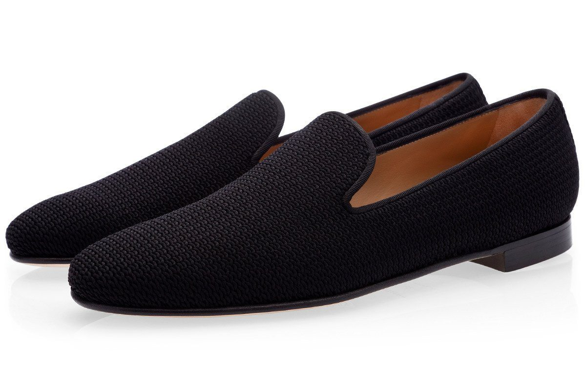 HARLEY TRICOT BLACK SLIPPERS