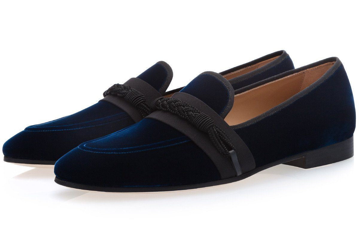 HONORÉ VELOUR CHINA SLIPPERS