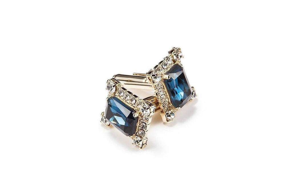 JOEL CRYSTAL NAVY CUFFLINKS