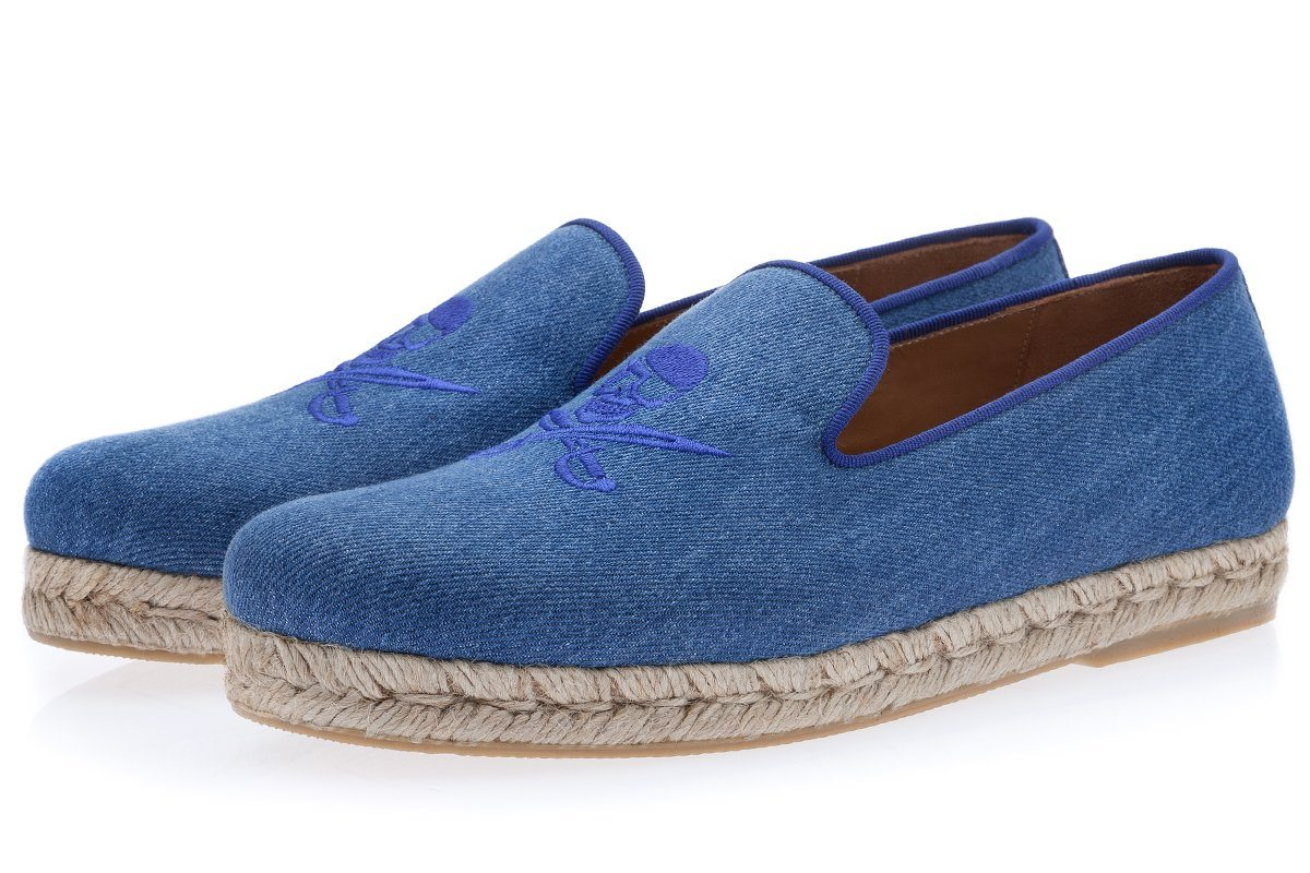 JOLLYROGER DENIM AZURE ROPE Men's Espadrilles