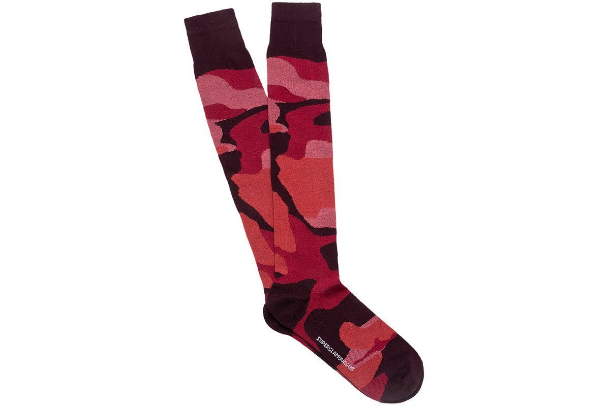 KARL COTTON MARSALA SOCKS