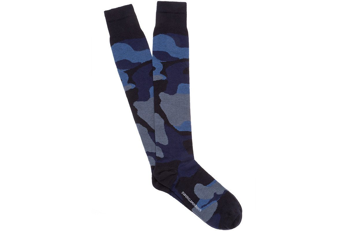 KARL COTTON NAVY SOCKS