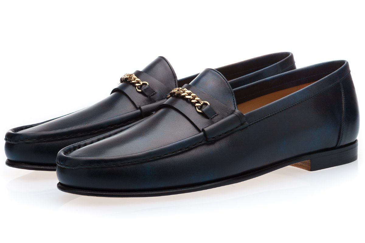 LOGAN RADICA NAVY LOAFERS Loafers Superglamourous