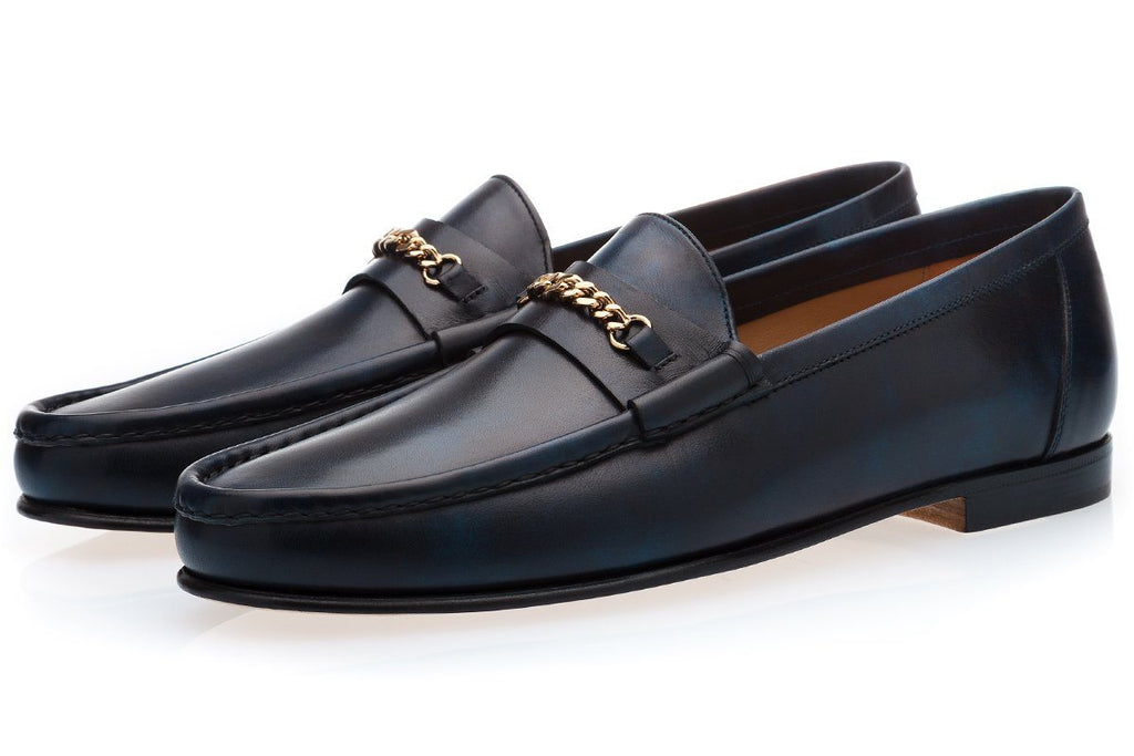 LOGAN RADICA NAVY LOAFERS