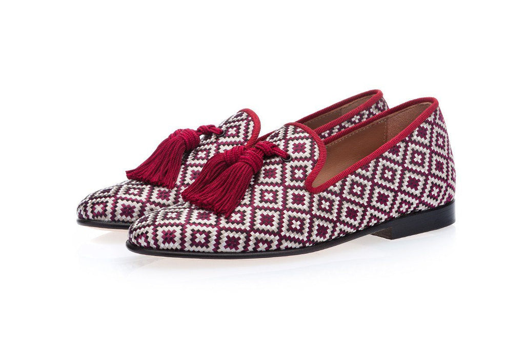 LOUIS BODRUM BURGUNDY SLIPPERS JUNIOR