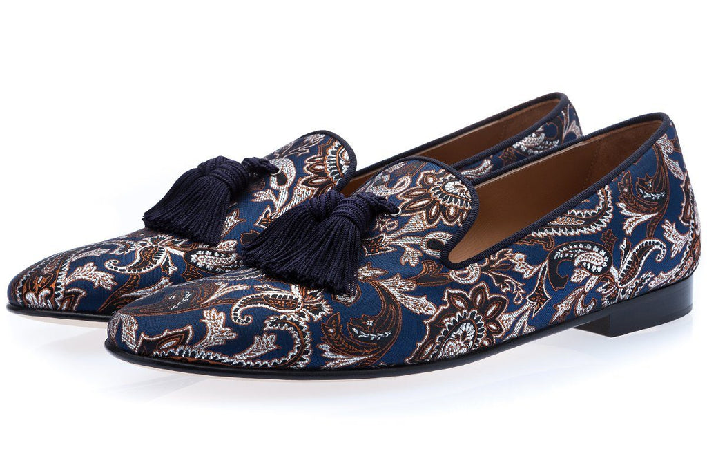 LOUIS MASATO NAVY SLIPPERS Slippers Superglamourous
