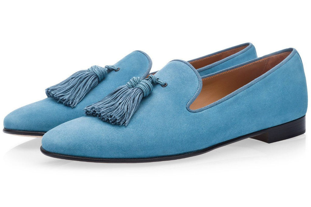 LOUIS VELUKID AZURE SLIPPERS
