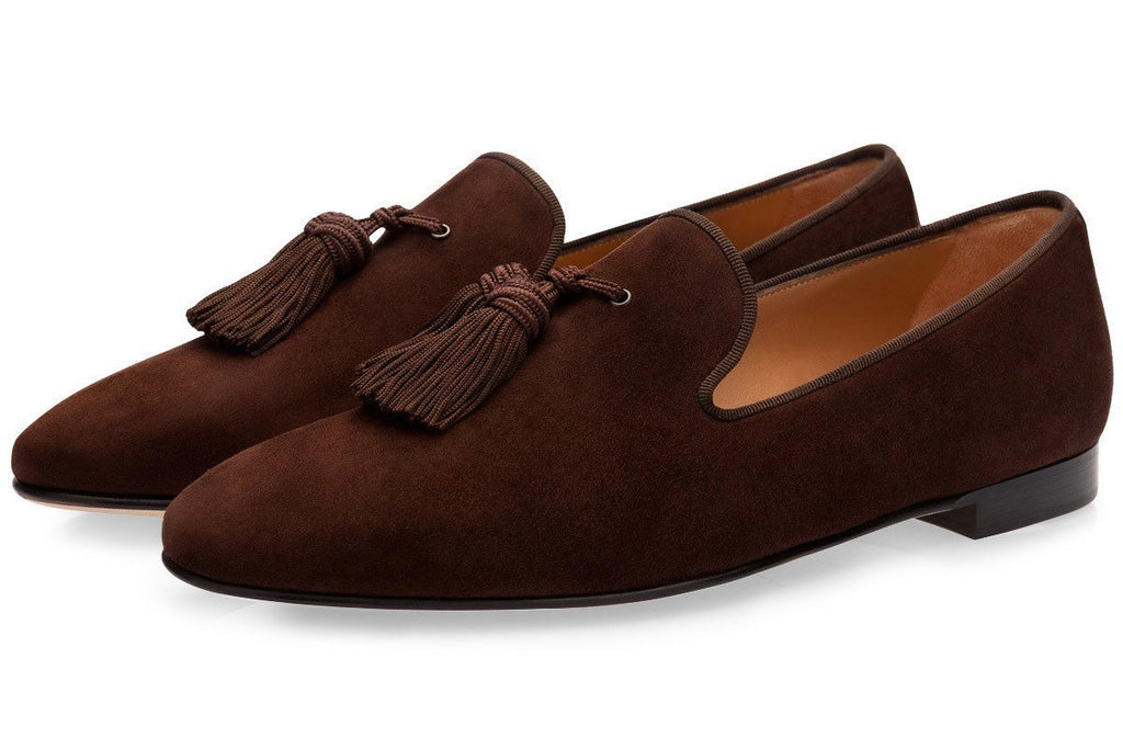 LOUIS VELUKID COCOA SLIPPERS