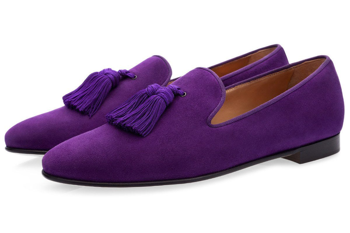 LOUIS VELUKID PURPLE SLIPPERS