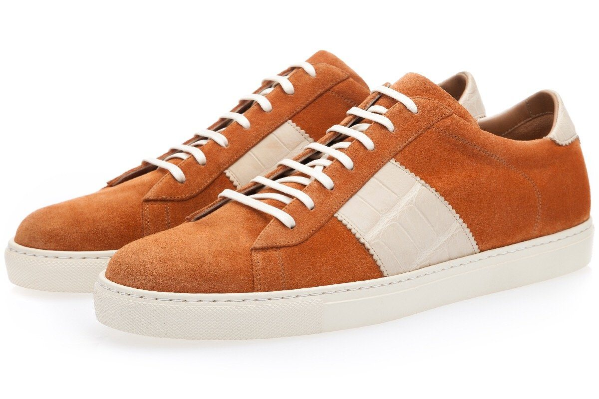 LOWELL SOFTY COGNAC LOW TOP Private Sale Superglamourous