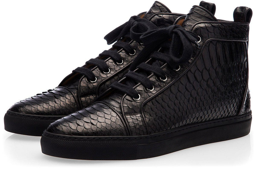 MAXIME PYTHON BLACK HIGH TOP Sneakers Superglamourous