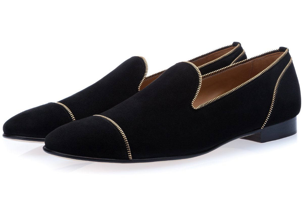 MELROSE VELUKID BLACK SLIPPERS