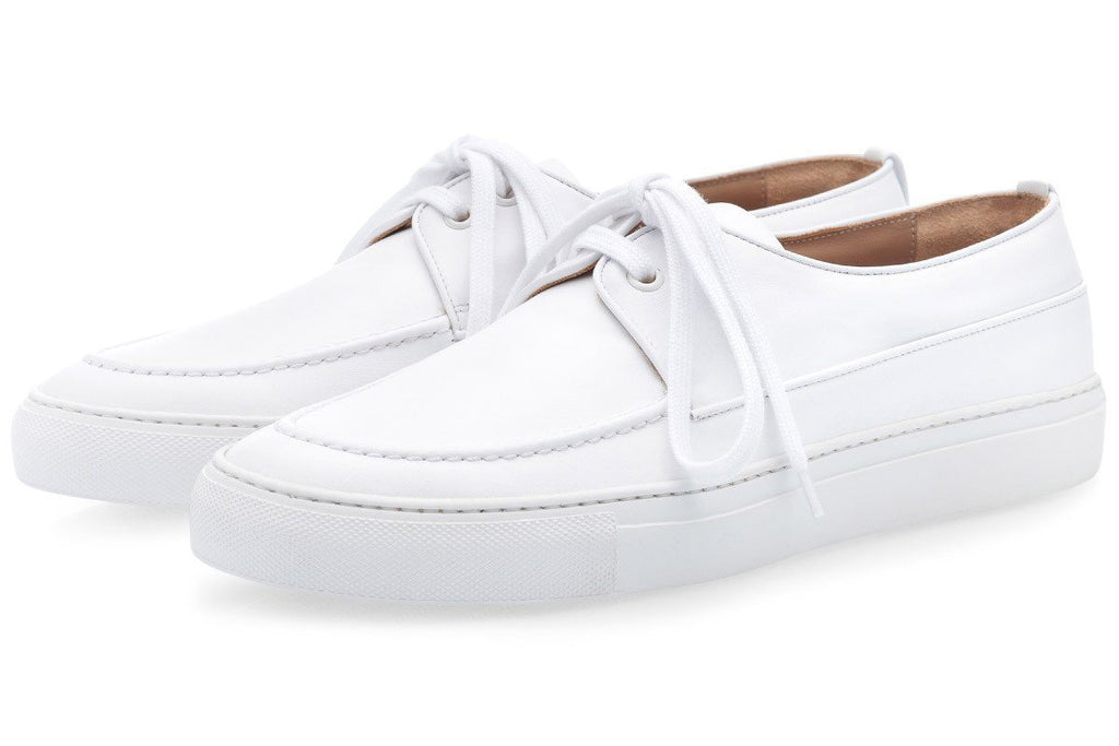 MURANO NAPPA WHITE LOW TOP