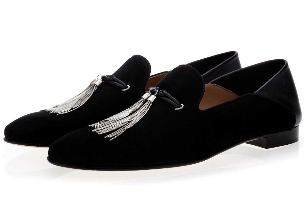 NAPPIER VELUKID BLACK DEMI-SLIPPERS