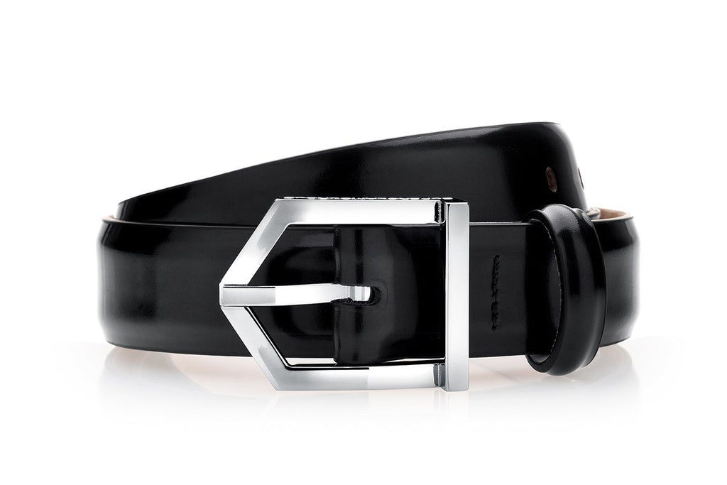 ODILON BRUSHED BLACK BELT Belts Superglamourous