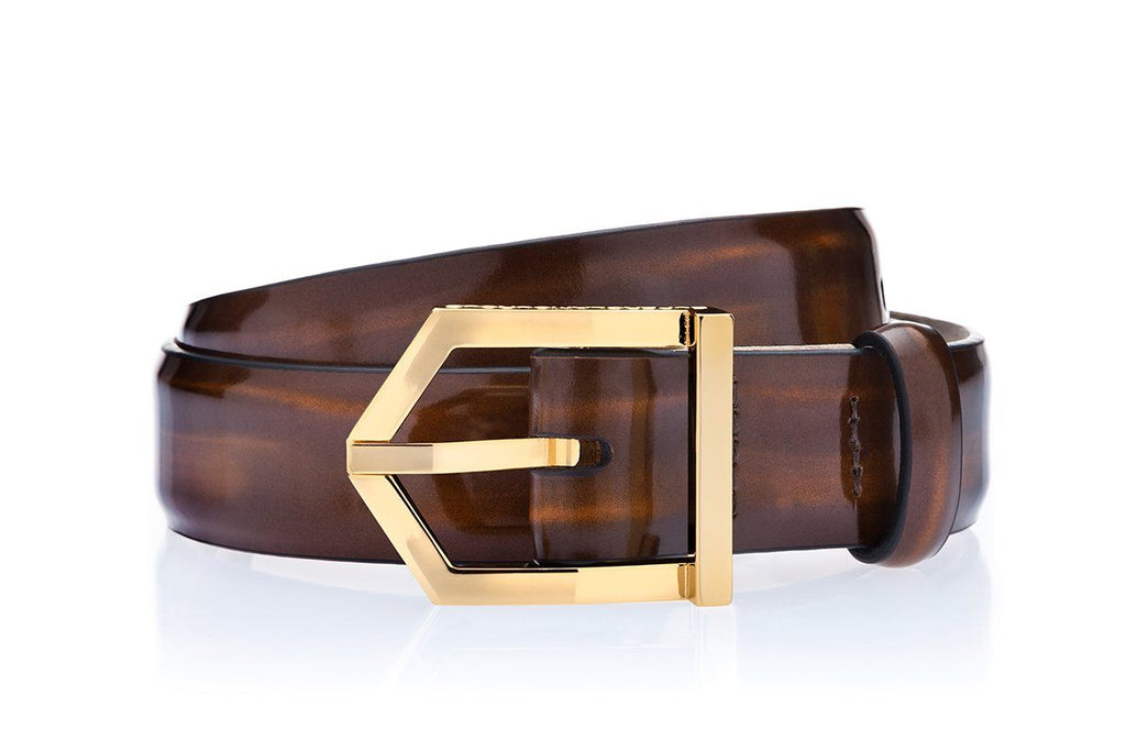 ODILON BRUSHED COGNAC BELT