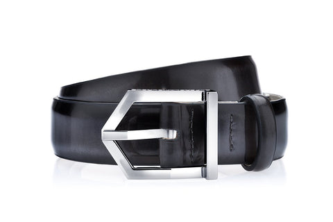 ODILON BRUSHED GREY BELT Belts Superglamourous