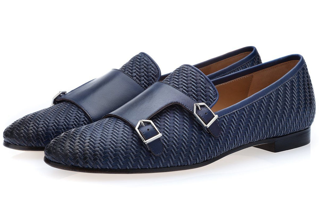 ODILON CORDON NAVY LOAFERS Loafers Superglamourous