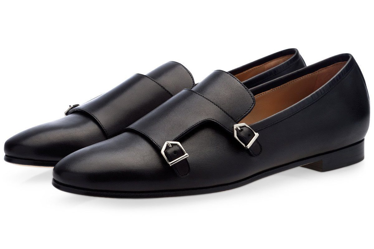 ODILON NAPPA BLACK LOAFERS Loafers Superglamourous