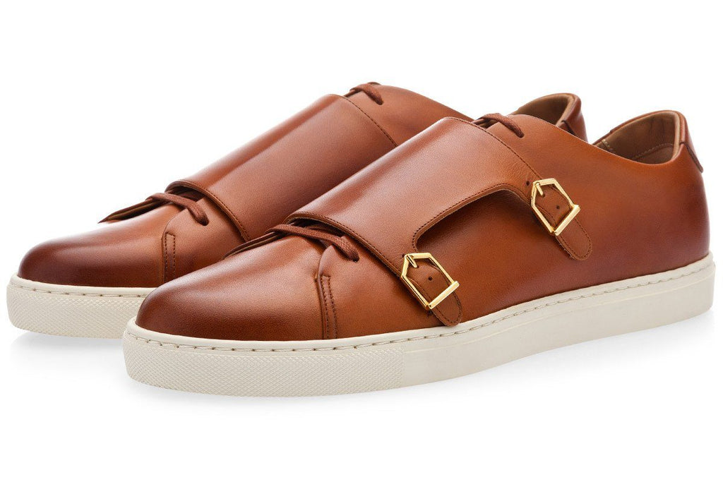 ODILON NAPPA COGNAC LOW TOP