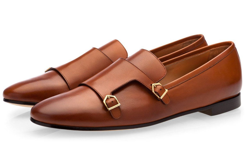 ODILON NAPPA COGNAC LOAFERS Loafers Superglamourous