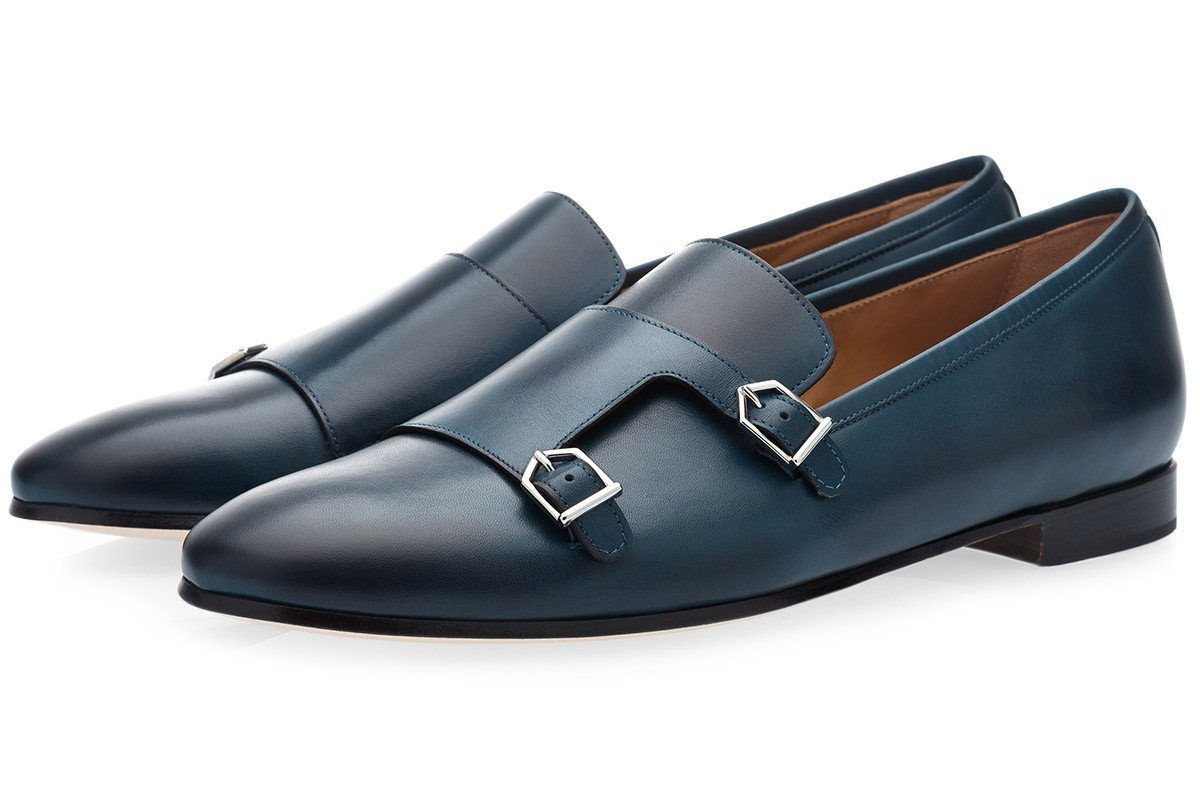 ODILON NAPPA NAVY LOAFERS Loafers Superglamourous