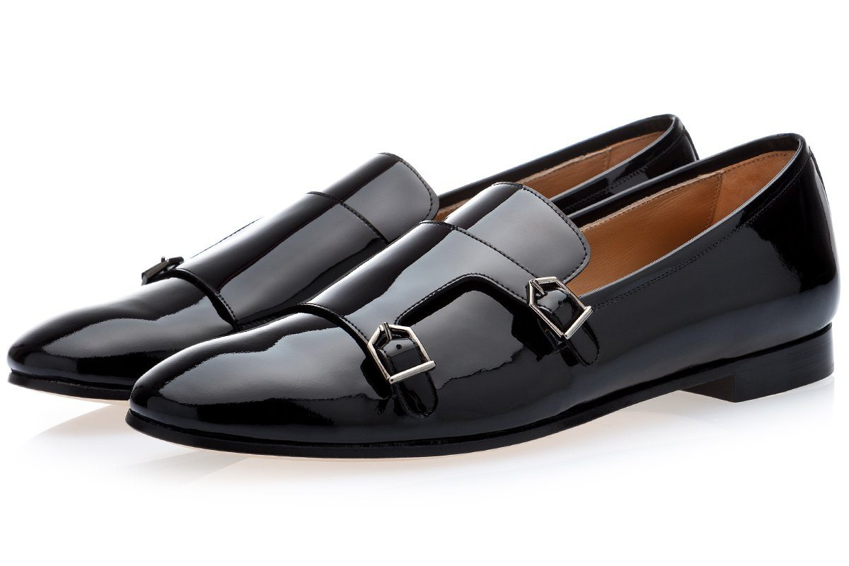ODILON PATENT BLACK LOAFERS