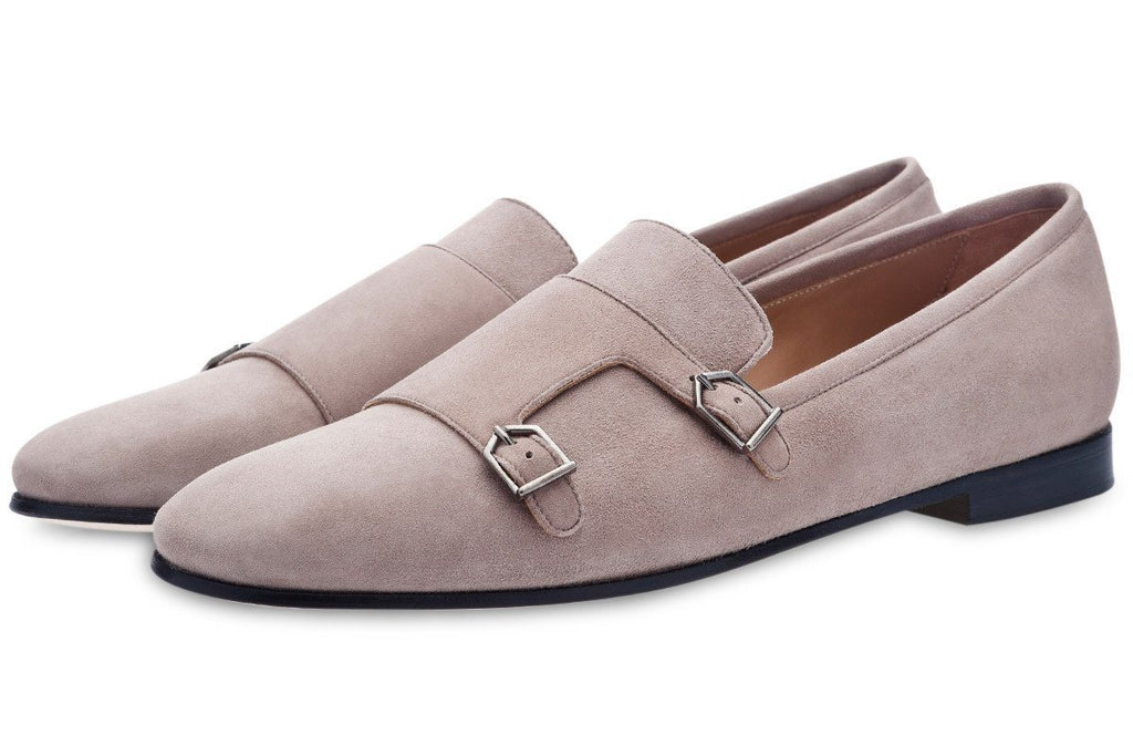 ODILON VELUKID TAUPE LOAFERS