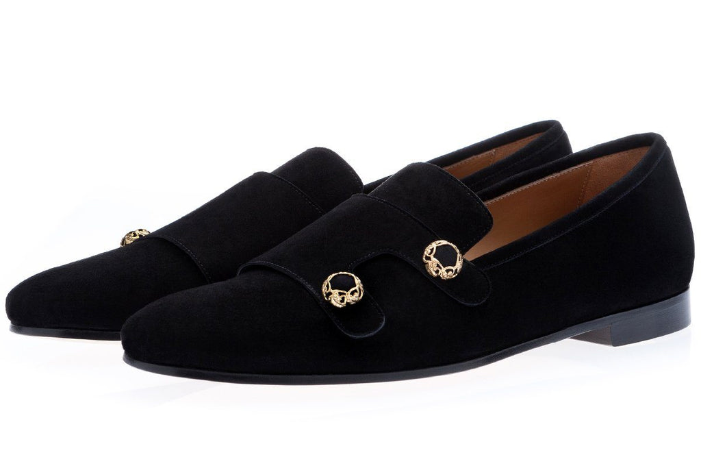 ODILUX VELUKID BLACK LOAFERS