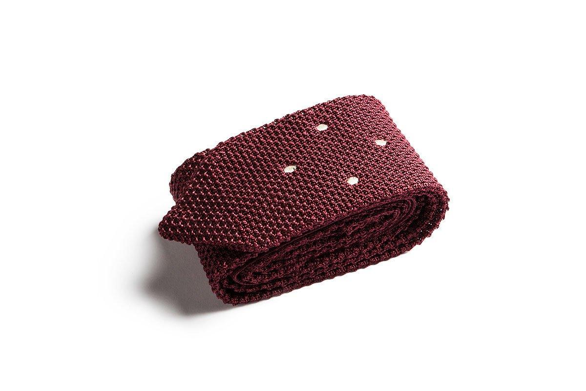 OPERETTA DOTS SILK BURGUNDY TIE Ties and Bow Ties Superglamourous