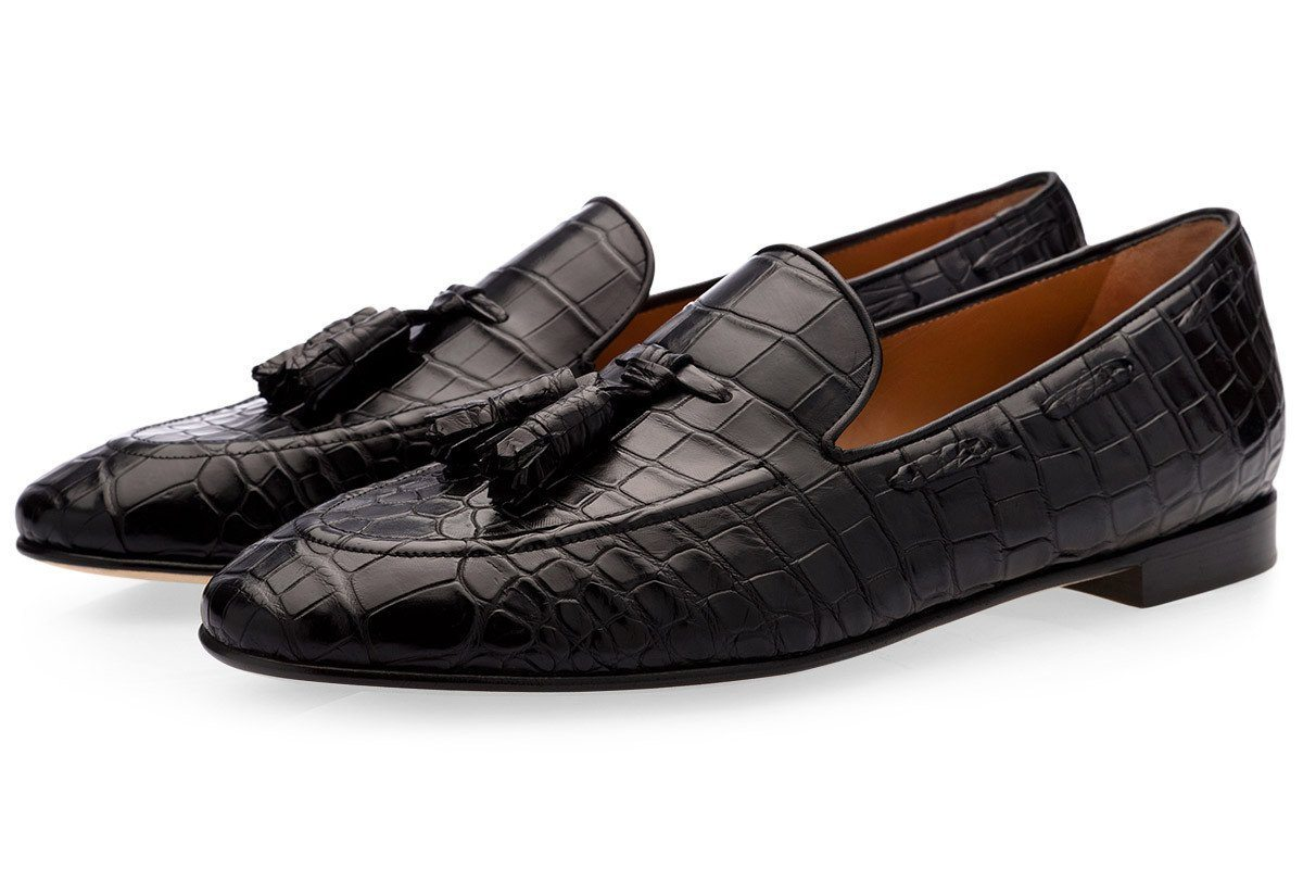 d07ecea44660e SUPERGLAMOUROUS | PHILIPPE MISSISSIPPI BLACK LOAFERS