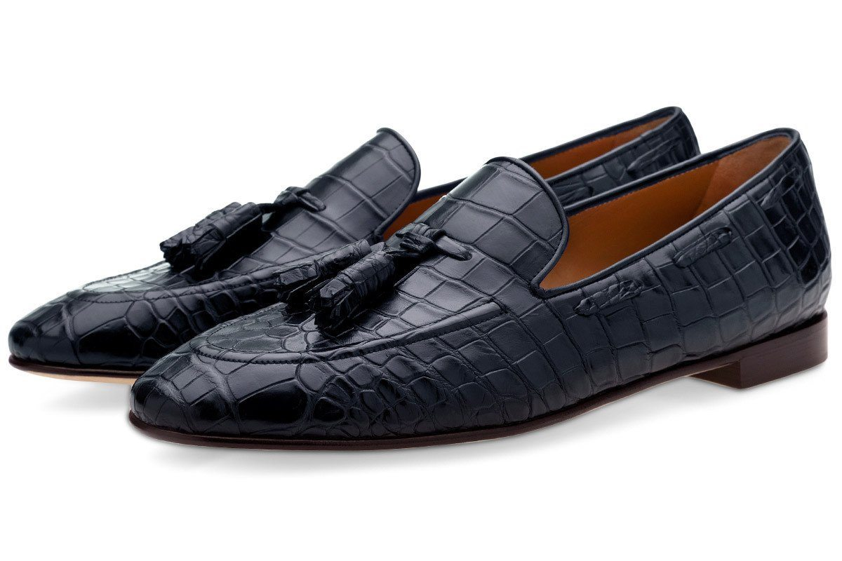 PHILIPPE MISSISSIPPI NAVY LOAFERS Loafers Superglamourous