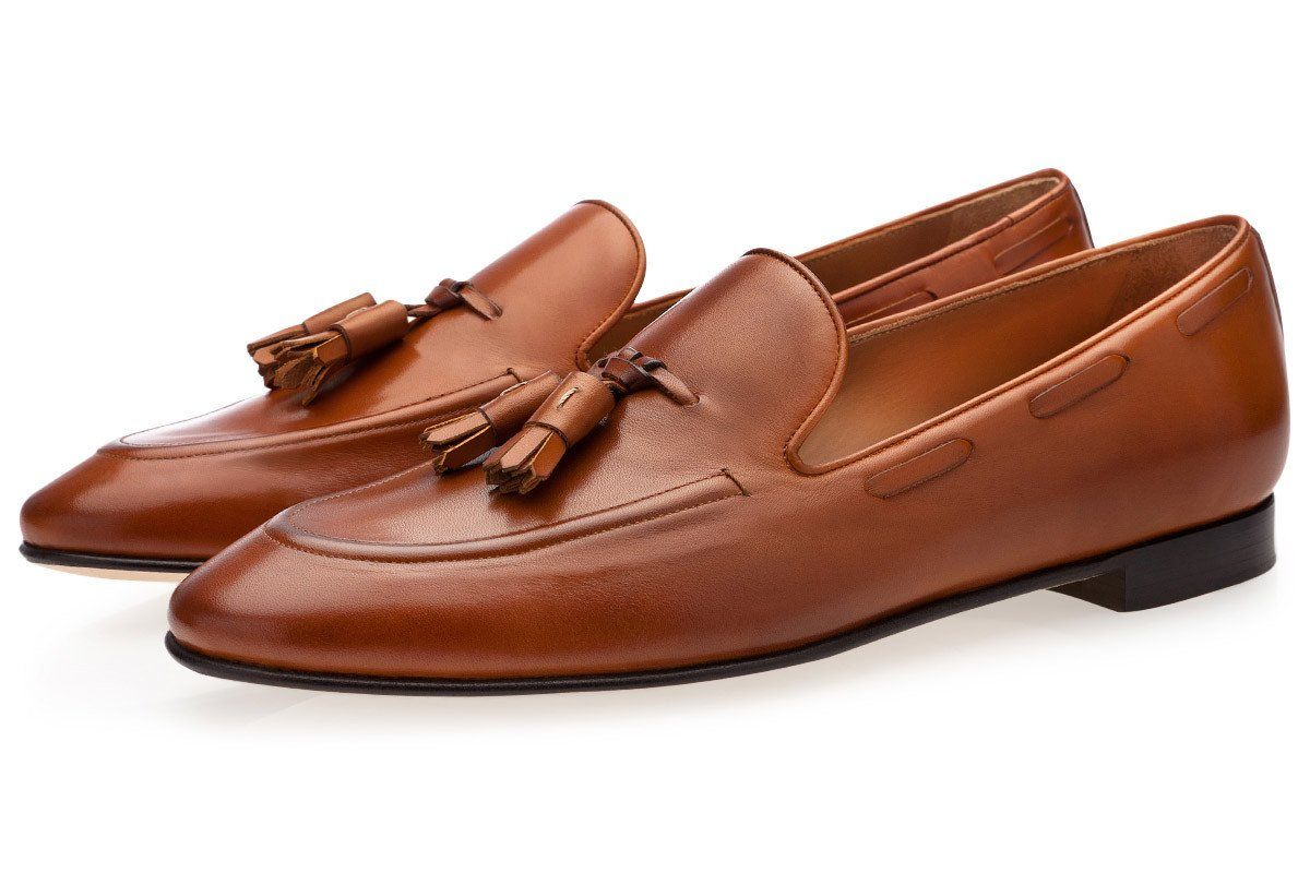 PHILIPPE NAPPA COGNAC LOAFERS Loafers Superglamourous