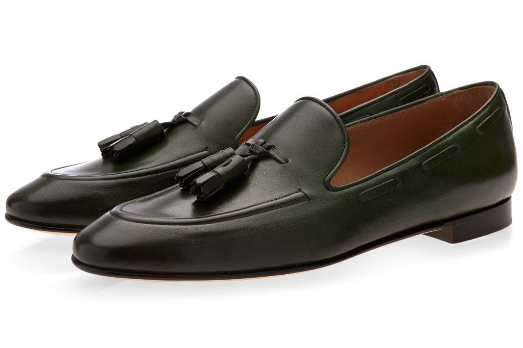 PHILIPPE NAPPA GREEN LOAFERS