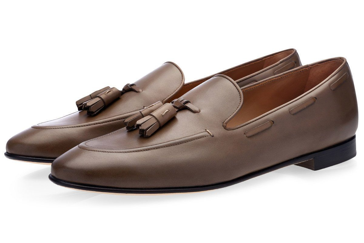 PHILIPPE NAPPA GREY LOAFERS