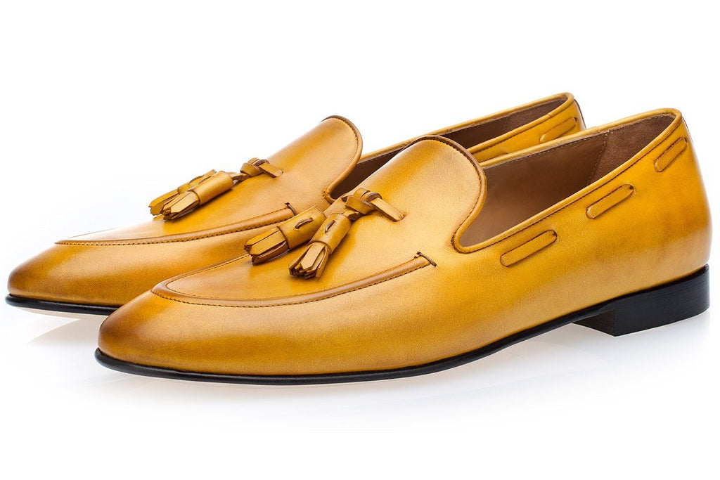 PHILIPPE NAPPA MUSTARD LOAFERS Loafers Superglamourous
