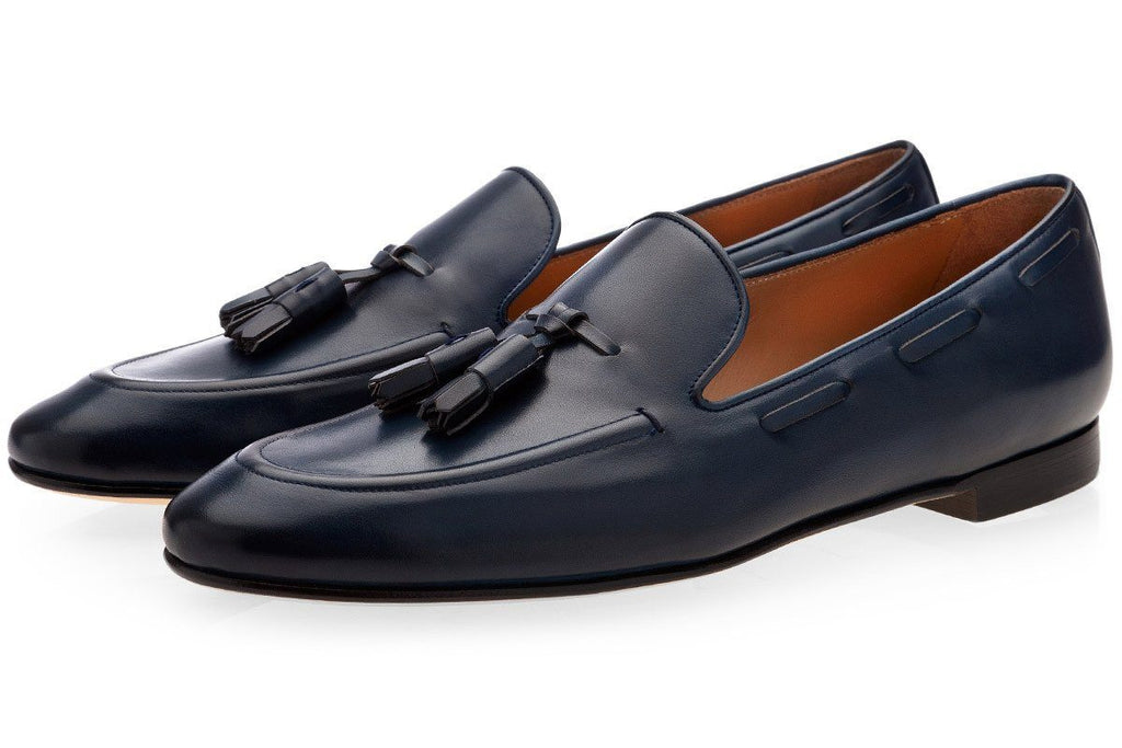 PHILIPPE NAPPA NAVY LOAFERS