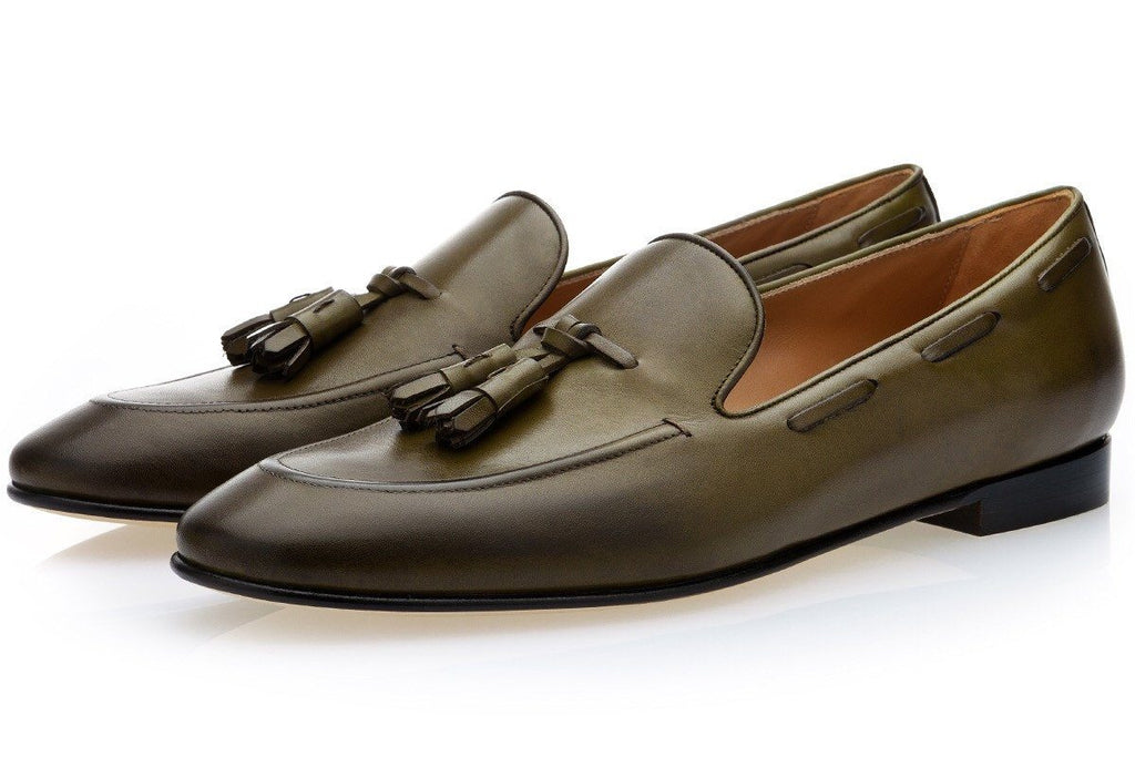 PHILIPPE NAPPA OLIVE LOAFERS Private Sale Superglamourous