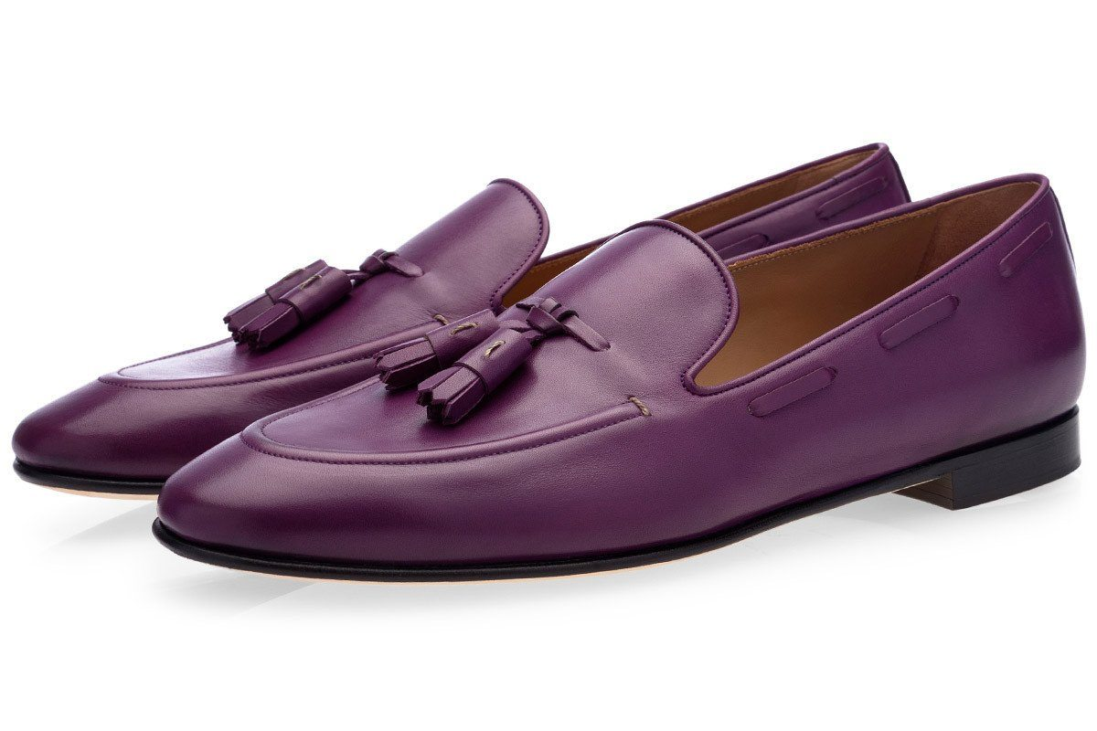 PHILIPPE NAPPA PURPLE LOAFERS