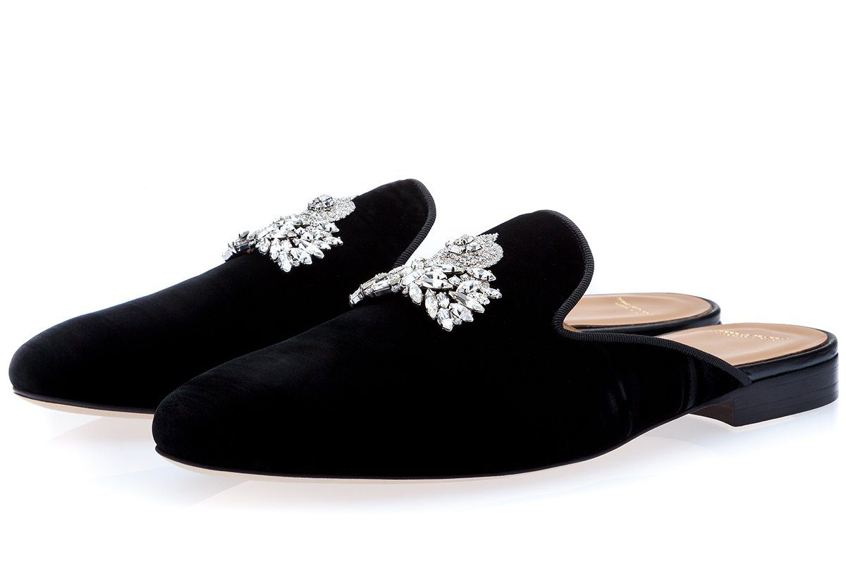 RAOULUX WRINKLE BLACK MULES