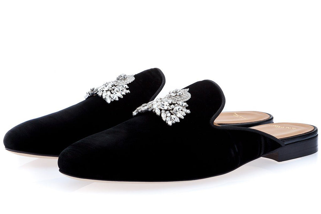 RAOULUX WRINKLE BLACK MULES Mules Superglamourous